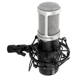 Condenser microphone with large diaphragm