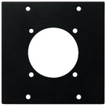 Rack Space Plate for mounting to the front frame RSP-10F to fit a CEE 7/4 chassis jack, e.g. AAC-180JC