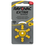 Rayovac Extra Advanced Pack of 6 size 10 Hearing Aid Batteries