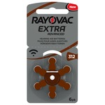 Rayovac Extra Advanced Pack of 6 size 312 Hearing Aid Batteries