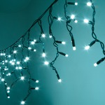 300 Cyan Heavy Duty Outdoor Icicle LED String Lights with Controller