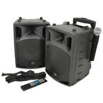PAV8 portable PA set + 2 UHF mics, CD/DVD, USB/SD & Bluetooth