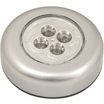 4 LED Round Push-on Light