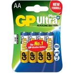 Ultra+ Alkaline batteries, AA, 1.5V, packed 4/blister