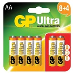 AA alkaline batteries, GP Ultra (8+4 Free)