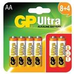 AA alkaline batteries, GP Ultra (8+4 Free)