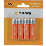 AA 1300mA NiMH battery - pack of 4
