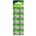 Alkaline button cell, 1.5V/ LR44 (675), 10 pieces per blister