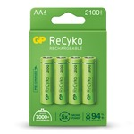 Pack of 4 ReCyko+ AA NiMH Rechargeable Batteries, 2100mAh