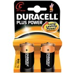 Duracell plus power alkaline batteries - pack of 2 size C
