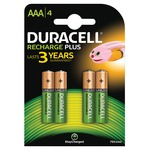 Duracell 4 x AAA 750mAH NiMH Plus Rechargeable Batteries