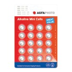 AgfaPhoto Alkaline Power button cells, 5 Types (Card of Twenty)