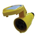 110V Yellow 16A 3 Contact High Current In-line Socket