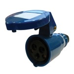 230V Blue 16A 3 Contact High Current In-line Socket