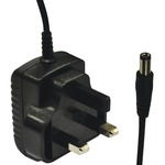 UK plug 12V 500 mA DC Power Supply 6W 2.1/5.5mm plug