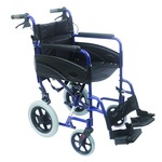 Compact Blue Transport Aluminium Wheelchair
