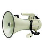TM-35 35 watt high power megaphone with hand-held microphone with fixed helix cable