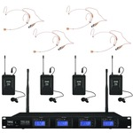 IMG Stageline TXS-646/38 Quad radio mic system with both headset and lapel mics - channel 38