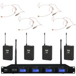 IMG Stageline TXS-646/38 Quad radio mic system with 4 x headset mics - channel 38