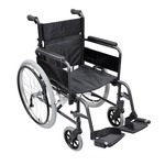 The deluxe lightweight self propelled aluminium wheelchair from Aidapt is our latest design in lightweight, compact wheelchairs. made from high grade aluminium with a double cross bar for strength, the lightweight aluminium wheelchair also offers ease of movement for the user and quick-folding for trouble-free transportation.