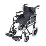 The deluxe attendant steel wheelchair from Aidapt is our latest design in compact, easy-to-use wheelchairs. the frame is made from steel for strength and durability, with moving parts in high grade plastic for lightness. it comes with a host of features you would expect to find on a higher priced wheelchair including a 5 year frame warranty.