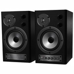 This pair of active compact and super affordable near-field monitor speakers feature ultra high resolution 24 bit/192 khz d/a converters, which let you connect digital sources directly in order to eliminate analog line-loss and hum.