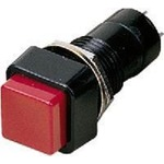 Momentary red 3A push switch/hold button, single-pole with central fixing - mom. push-button, NO