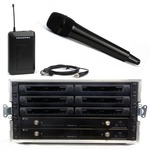 Trantec S4.10 Rack'n'Ready kit with 6 radio mics - ch 38