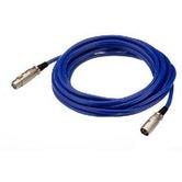 Blue 10 metre high quality 3 pin XLR plug to socket cable