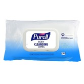 Purell 94004 Hand/Body Sanitising Wipes, pack of 70 - Enriched with organic moisturising aloe vera and softening argan oil