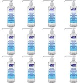 Purell 9665 round pump action hand rub dispensers box of 12 x 500ml