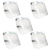 Pack of 5 Universal Covi-Shield Protective Face Screen That Can Be Worn For Extended Periods