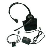 Office telephone pack with wireless headset for Phonak Roger Pen or Select