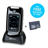 Amplicomms PowerTel M7510-3G Mobile Phone with FREE 16GB Micro SD Card