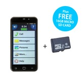 Amplicomms PowerTel M9500 Amplified Smartphone with FREE 16GB Micro SD Card