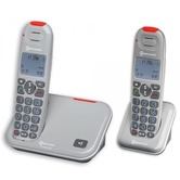 Amplicomms PowerTel 2702 Cordless Telephone Twin Pack
