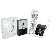 Geemarc AmpliDECT 595 U.L.E Cordless Phone with doorbell intercom system and visual ringer