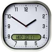 High Contrast Wall Clock - White