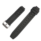 Black silicone watch band strap for Vibralite 8