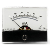 PM-2/50MA Moving Coil Panel Meter - 50mA dc