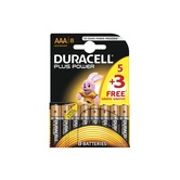 Duracell Power Plus AAA Pack of 5+3