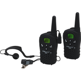 Pair of dual-band walkie talkie transceivers