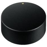 40mm rotary knob matt black with golden marking