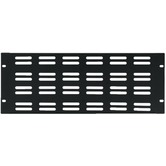 "4U 19"" Rack panel with ventilation slots"