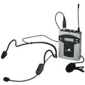 Monacor TXA-800HSE radio mic pocket transmitter
