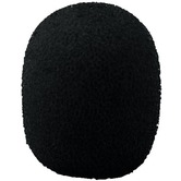 Pack of 4 Black Foam Microphone Windshields for Mics with dia 4-6mm