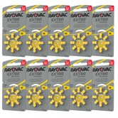 70 + 10 free = 80 size 10 Rayovac Extra Advanced Hearing Aid Batteries