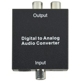 Digital optical or Coaxial audio signals to Analogue Audio Converter