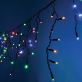 300 Multicolour Heavy Duty Outdoor Icicle LED String Lights