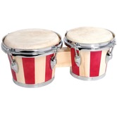 Wooden Bongos with Stain Banded finish